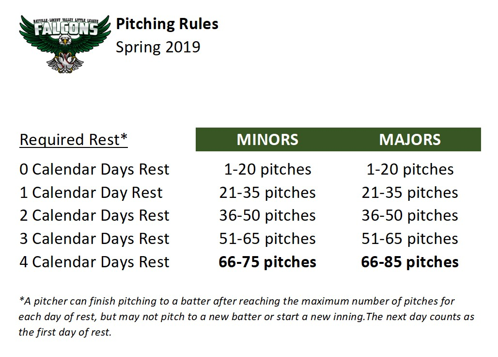 Spring 2019 Pitching Rules