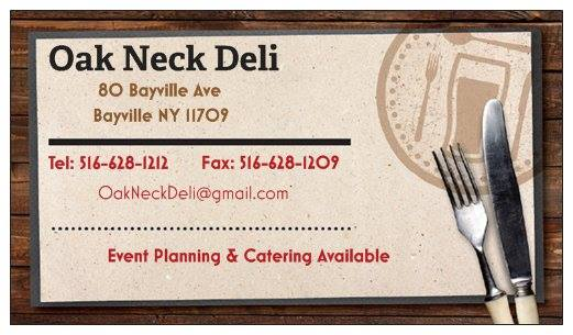 oak neck deli